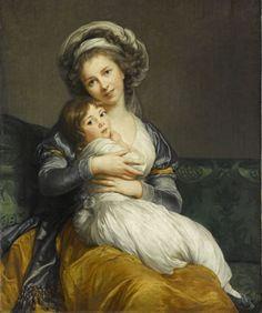 """""""La tendresse maternelle"""" Élisabeth Vigée Le Brun (1786)"""