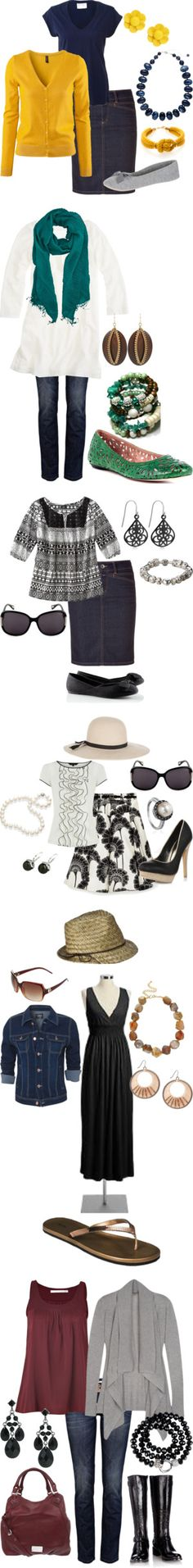 """""""Modesty Mondays"""" by coloradogrrl21 on Polyvore I some of the outfits will be cute with jean skirts"""