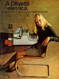 Olivetti #Brasil  #anos60  #retro                                                                                                                                                                                 Mais