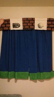 DIY Mario Curtains for nursery