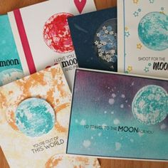 6 Ways To The Moon - Stamp Set by Altenew.  See more ways of using this stamp set in our online shop blog.