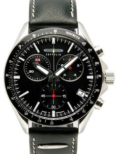 Graf Zeppelin 7284-2 German Watch is a black line series chronograph with a  Swiss 347cdabeca