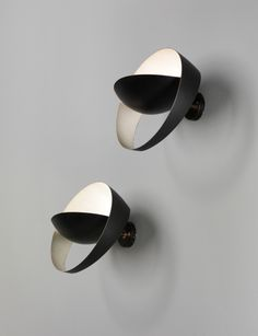 PHILLIPS : UK050113, Serge Mouille, Pair of 'Saturne' wall lights