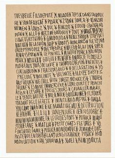 Marie Lemaistre  •  #typography   #handwritten   #art