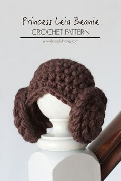 Hopeful Honey | Craft, Crochet, Create: Princess Leia Inspired Beanie Crochet Pattern