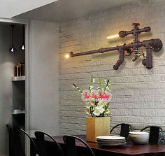 Vintage Loft Industrial Edison Water Pipe Wall Lamp Cinnamon 2 Lights Cafe Bar | Дом и сад, Освещение и потолочные вентиляторы, Настенные крепления | eBay!