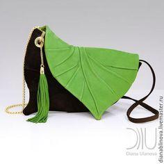 Женские сумки ручной работы. Ярмарка Мастеров - ручная работа. Купить Лист клатч замша. Handmade. Комбинированный, однотонный