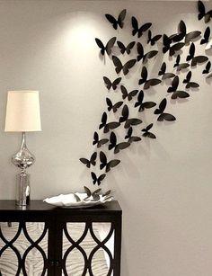 Diese wunderschöne Schmetterlinge werden alle Zimmer oder Elemente, eine magische Note hinzufügen. perfekt zum Schlafzimmer, Kindergärten und Mädchen Zimmer zu dekorieren. Set beinhaltet 42-84 oder 126 Papier-Schmetterlinge in unterschiedlicher Größe, von 1,7 Zoll bis 4 Zoll. (so