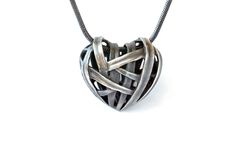 """Silver necklace """"fuszál szív"""""""