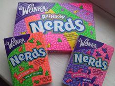 wonka nerds sweets packaging
