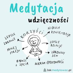 Jakie korzyści przynosi medytacja wdzięczności?  👉Jak widzisz, jest ich wiele! A co najważniejsze wdzięczność daje radość z życia i enegie - po prostu chce się żyć. Pojawia się większa otwartość i przestrzeń. Nawet jak teraz nie jest idealnie i słychać z tyłu głowy głos narzekacza.  👉Wdzięczność pomaga nabrać nową, świeżą perspektywę i zauważyć, że nie jest aż tak źle jak nam się wydawało wcześniej.   #medytacja #umysł #szczęście #zdrowie…