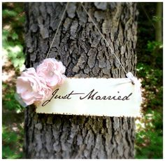 Wooden Just Married Wedding Sign Rustic by ThePolishedBride, $35.00