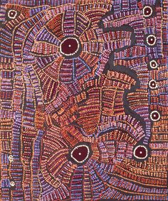Doris Bush Nungarrayi - 91x76 cm - Tjurrpinyi, 2012 / IDAIA - International Development for Australian Indigenous Art