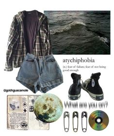 A fashion look from January 2018 by sunsetsandflowers featuring Wood Wood Miss Selfridge American Apparel Monki Dr. Hipster Outfits, Grunge Hipster Fashion, Hipster Stil, Grunge Outfits, Casual Outfits, Emo Outfits, Grunge Fashion Winter, Grunge Shoes, Hipster Clothing