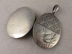 Unusual Antique Victorian 'Escher Flowers' Engraved Silver