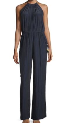 Calypso s Barth Campina Halter Jumpsuit Navy Large Retail for $425 00 | eBay