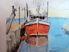 Watercolour paintings original Better off Red 8x10 by Benjaminart9