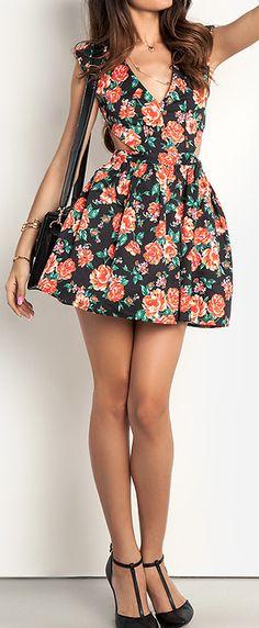 Rose skater dress