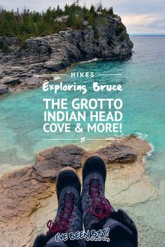 I've Been Bit! A Travel Blog :: Exploring Bruce - The Grotto, Indian Head Cove & More! | Bruce Peninsula National Park, Parks Canada, Georgian Bay, BruceGreySimcoe, Ontario, Canada, Hiking, Hike, Travel |