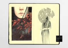 moleskine pt.iii by elfandiary, via Behance