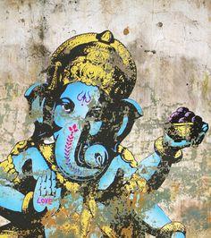 Ganesha: The year of removing obstacles. Shri Ganesh, Lord Ganesha, Krishna, Indian Gods, Indian Art, Buda India, India Street, Hindu Festivals, Street Art Graffiti