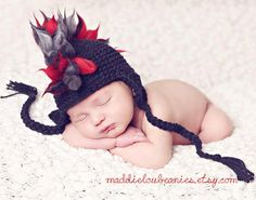 Mohawk hat baby boy 612 month size black and by maddieloubeanies, $40.00