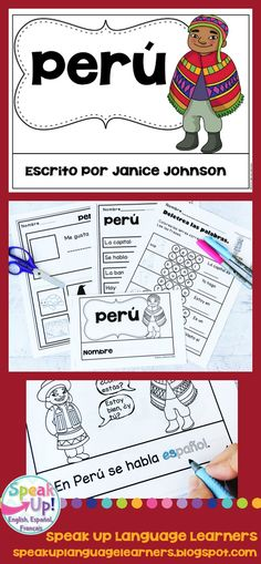 Perú {Peru} Reader {en español} & Vocab pages ~ Simplified for Language Learners Spanish Immersion, Spanish Speaking Countries, Spanish Culture, Emergent Readers, Dual Language, Spanish Classroom, Student Reading, How To Speak Spanish, Life Skills