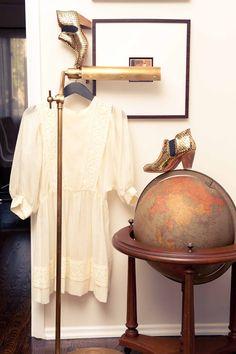 White vintage dress.