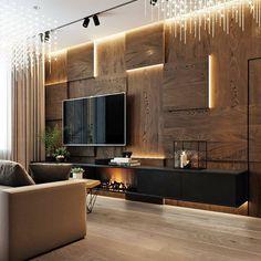 Home Room Design, Interior Design Living Room, Living Room Decor, Interior Decorating, Home Living Room, Modern Tv Room, Modern Living, Living Room Tv Unit Designs, House Rooms