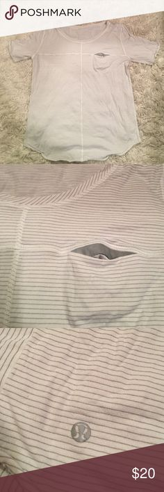 Lululemon Silverscent T-shirt Silverscent *odor blocking! White t-shirt. Good condition lululemon athletica Tops Tees - Short Sleeve