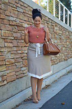 Summer wear for the office: Nice look plus size