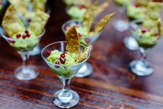 Elegant guacamole and chips