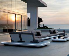 Modular sofa / contemporary / garden / aluminum ELEMENTS   MANUTTI