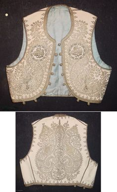 Turkey, silver embroidered child's ottoman jacket, silk lining, small beads on the buttons and light blue stones, 19th c