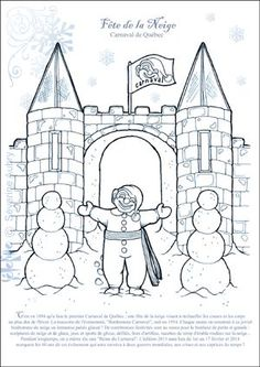 quebec winter carnaval coloring pages - photo#8