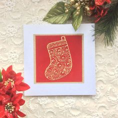 5 Luxury Christmas Cards Henna Inspired Box of by KushiyaDesigns