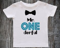 First Birthday Mr Onederful Outfit 1st Birthday Baby Boy by WAAIYE
