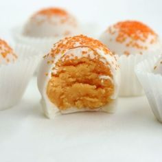 Orange Creamsicle Cake Bites by MissCandiQuik~  (Lots of other recipes, too!)