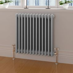 Earl Grey Triple Panel Horizontal Colosseum Traditional Radiator - Before After DIY Bathroom Radiators, Vertical Radiators, Column Radiators, Cast Iron Radiators, Traditional Radiators, Traditional Doors, Traditional Bathroom, Traditional Styles, Bathroom Remodeling