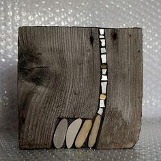 c l a p m o s a i c o: fav Driftwood Sculpture, Art Sculpture, Driftwood Art, Wall Sculptures, Wood Mosaic, Stone Mosaic, Mosaic Art, Mosaics, Wood Stone