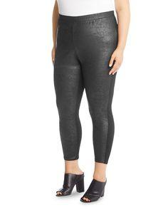 9bc651ca91880 Karen Kane Plus - Faux-Leather Leggings Plus Size Designers