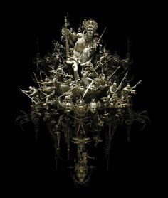 Ode-to-Herculaneum-Kris-Kuksi – Daily Art Fixx Missouri, Memento Mori, Art Actuel, Art Du Monde, Les Gifs, Unusual Art, Fantastic Art, Amazing Artwork, Beautiful Artwork