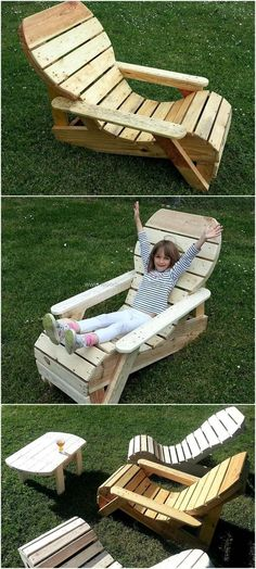 Using recycled wood pallets for crafting your indoor and outdoor chair is best idea to save your money. Repurposed wood pallet chair is crafted for your comfort. It is best to use in your outdoor as well as in your kids room. This will be a good idea to create a wood pallet chair and present it as a gift to your friends to surprise them with different pallet outdoor furniture. #palletfurnitureforkids #outdoorideasforkids