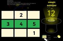 A good magic square maths resource. Users must complete the rows so they add up to a particular 'magic' number. Magic Squares Math, Ict Games, Magic Number, Numeracy, Addition And Subtraction, Math Resources, Cool Websites, Maths, Teaching