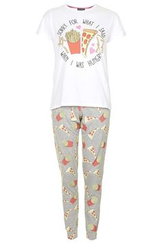 ac3d3b2669 Hungry Slogan Pyjama Set - Topshop Cotton Sleepwear