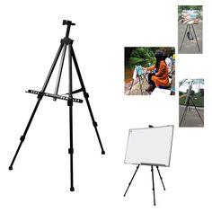 Telescopic Folding Artist Field Studio Painting Easel Tripod Display Stand UK