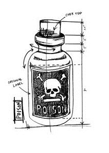 Tim Holtz Rubber Stamp POISON SKETCH Stampers Anonymous P1-2172