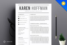 Modern Resume Template by A1RESUME on @creativemarket