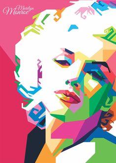 Pop Art Marilyn, Marilyn Monroe Pop Art, Vintage Pop Art, Retro Vintage, Frida Art, Pop Art Girl, Pop Art Portraits, Humor Grafico, Norma Jeane