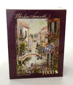 1000 Piece Jigsaw Puzzle View to Venice Marilyn Simandle  #AndrewsnBlaineltd